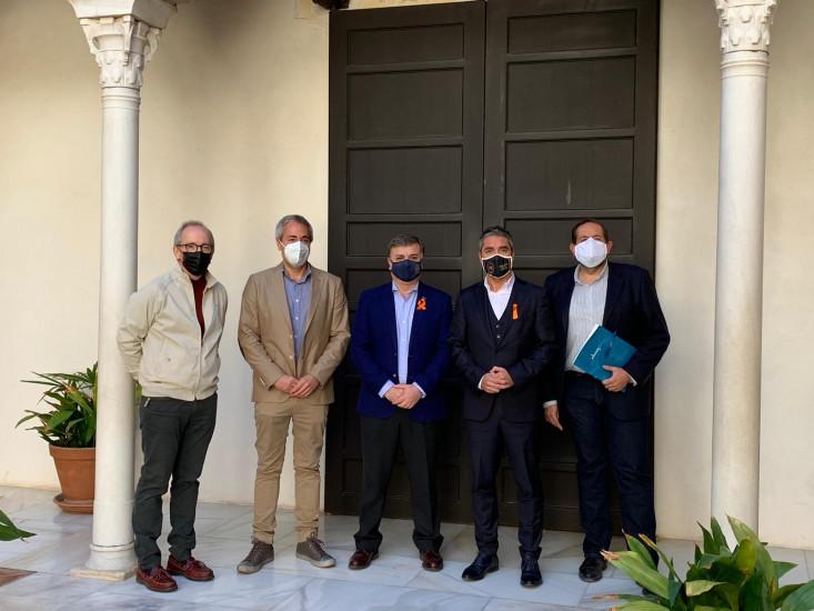 Rueda de Prensa en Casa de Zafra para presentar la instalación de los sensores